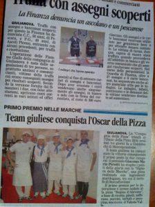 Il Team Giuliese conquista l'Oscar della Pizza