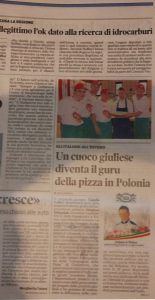 Un cuoco giuliese diventa il guru della pizza in Polonia
