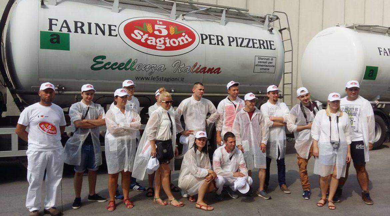 """Valerio Valle al Molino Agugiaro & Figna, visita guidata e  corso allo staff  delle pizzerie """"Tutti Santi"""""""