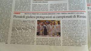 Pizzaioli Giuliesi protagonisti ai campionati di Rimini