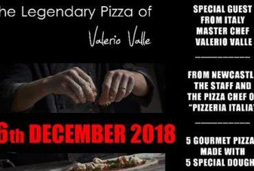 La pizza di Valerio Valle arriva a Newcastle, Inghilterra
