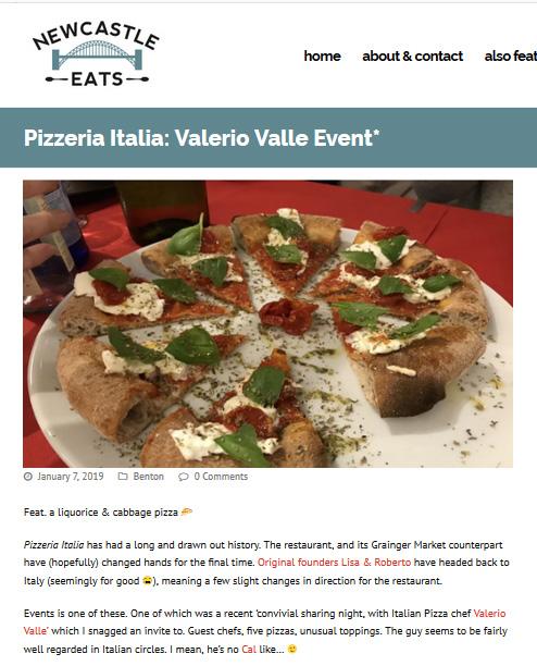 Pizzeria Italia: Valerio Valle Event